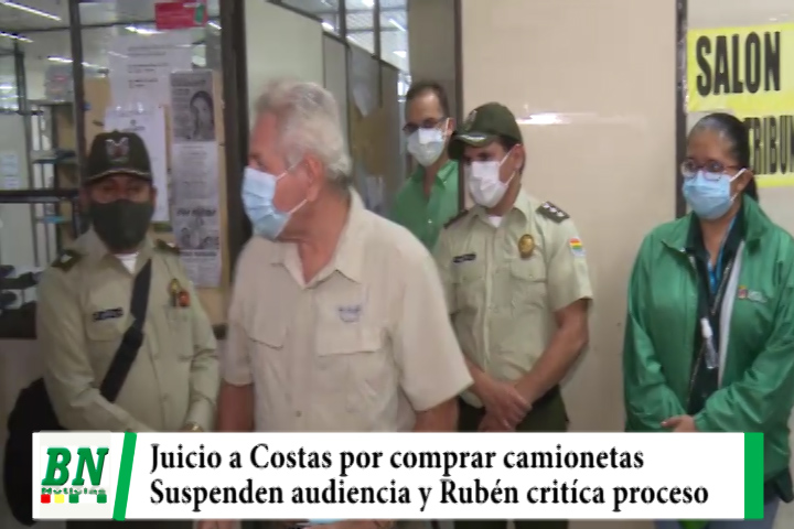 Juicio a Costas por camionetas, Suspenden audiencia y Rubén critíca proceso judicial en su contra
