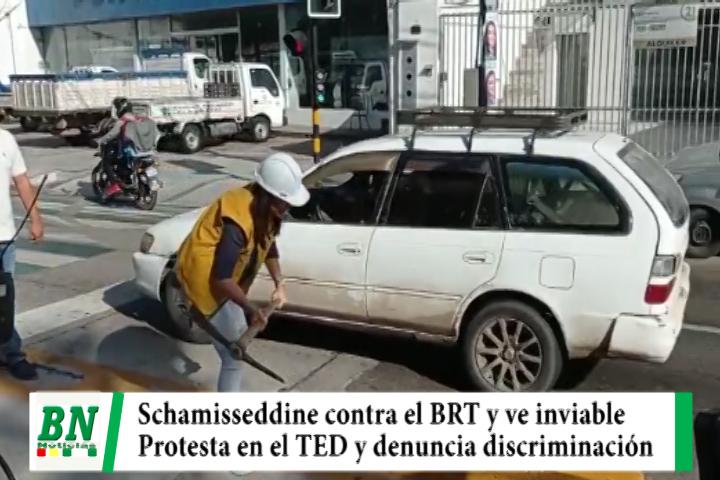 Campaña Unidos 2021, Candidata contra BRT y ve mal obra, denuncia discriminación en encuestas y debate con protesta en el TED