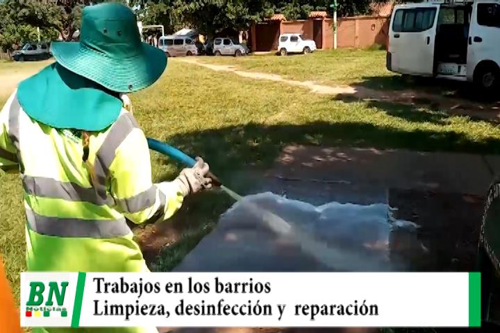 Municipio realizó trabajos de desinfección, arreglo de calles y atención a vecinos con brigadas