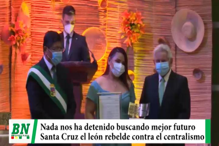 Sesión de Honor ALD, Costas: Santa Cruz nada la ha detenido buscando un mejor futuro y es el león rebelde contra el centralismo