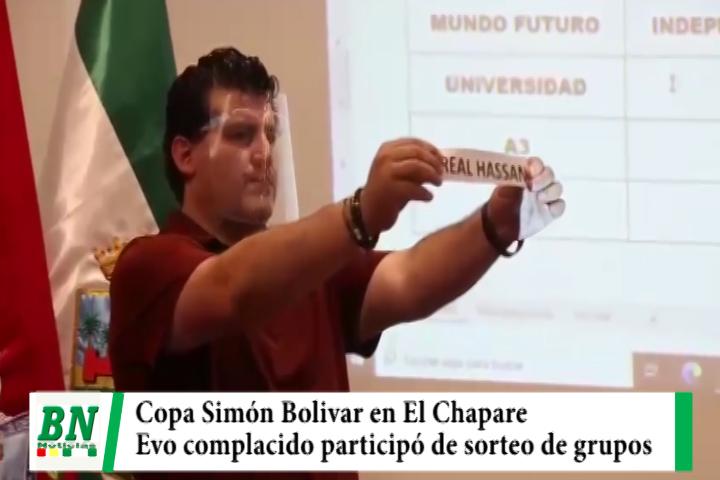FBF sorteó grupos de la Copa Simón Bolivar femenina que se realizará en El Chapare, Evo complacido