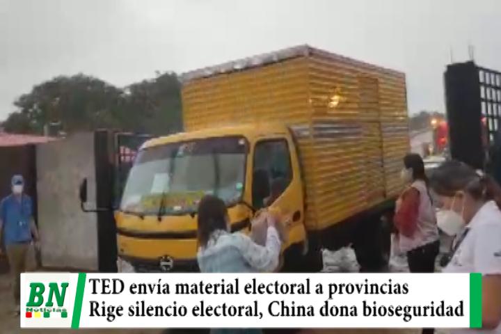 TED envía material electoral a provincias y recuerda que rige silencio electoral y otras medidas