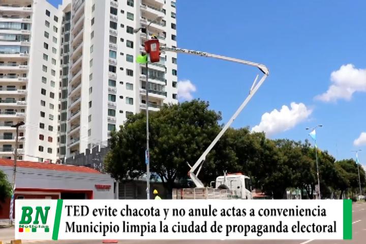 Elección 2021, MDS pide al TED evitar chacota y anular actas a conveniencia, limpian propaganda electoral