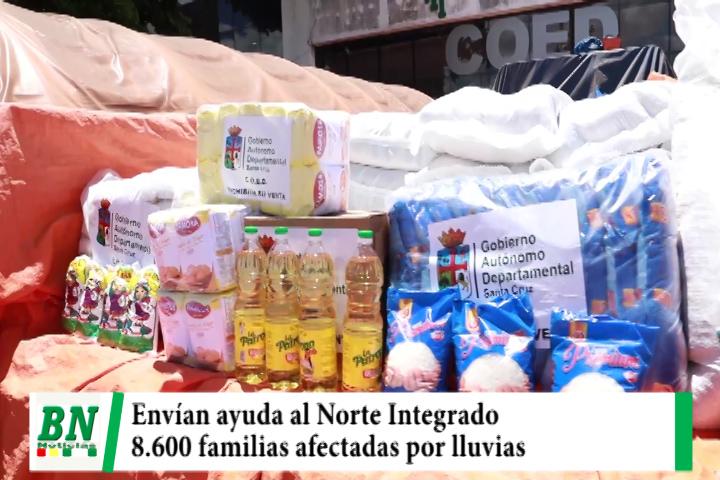 Envían 21 Toneladas de alimentos y semillas para 8,600 familias afectadas por las lluvias