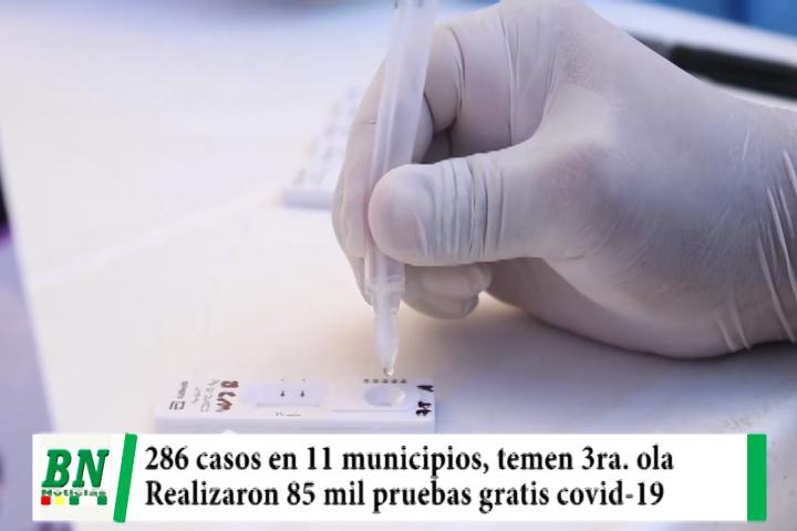 Alerta coronavirus, 286 contagios en 11 municipios y temen tercera ola, 85 mil pruebas gratuitas