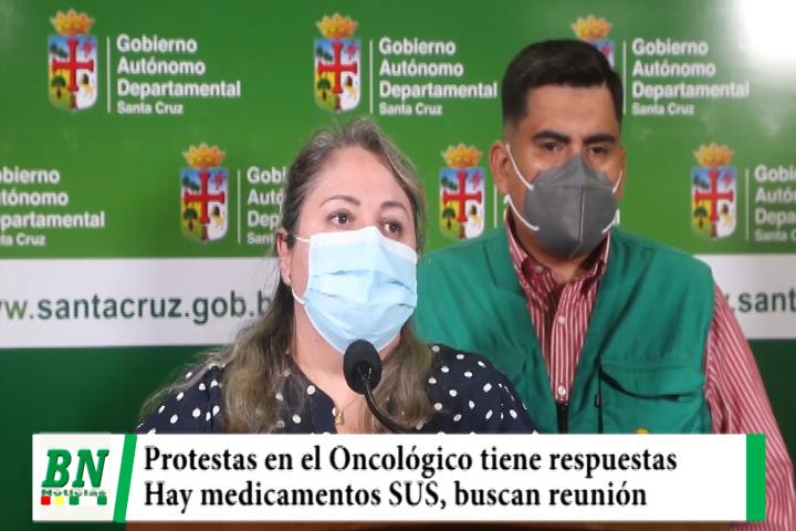 Protesta en el Oncológico por medicamentos y Gobernación asegura el SUS, se reunirán con padres de familia