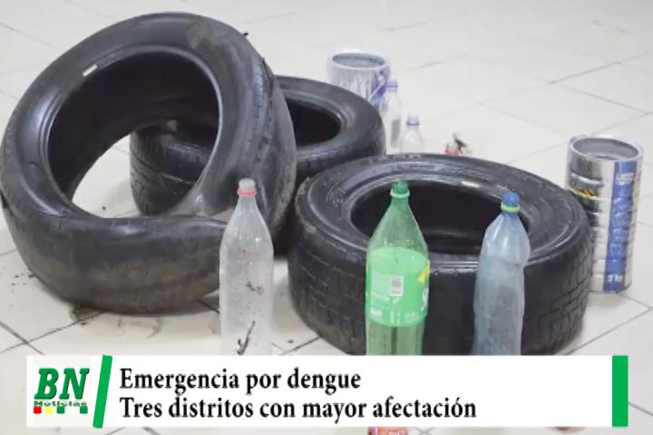 Hay emergencia por dengue en la ciudad y tres distritos son los más afectados y realizan limpieza