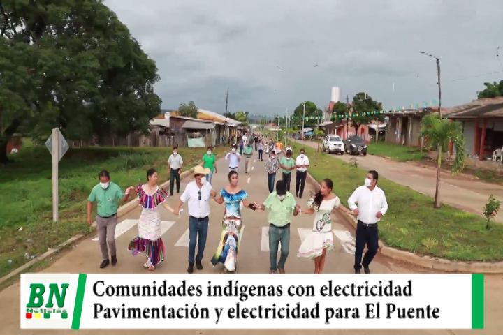 Gobernación entrega pavimentación y electricidad a municipio de El Puente y cobertura a indígenas