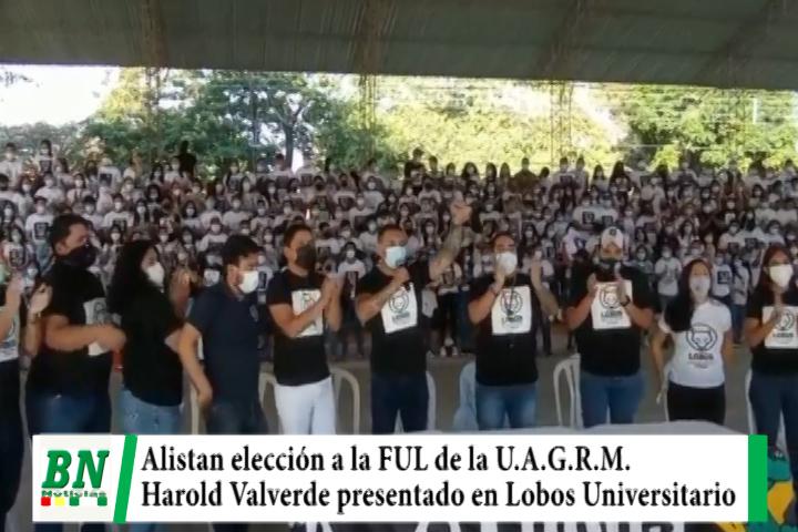 Inician campaña para la elección de Ejecutivo a la FUL y Harold Valverde postula por Lobos Universitarios