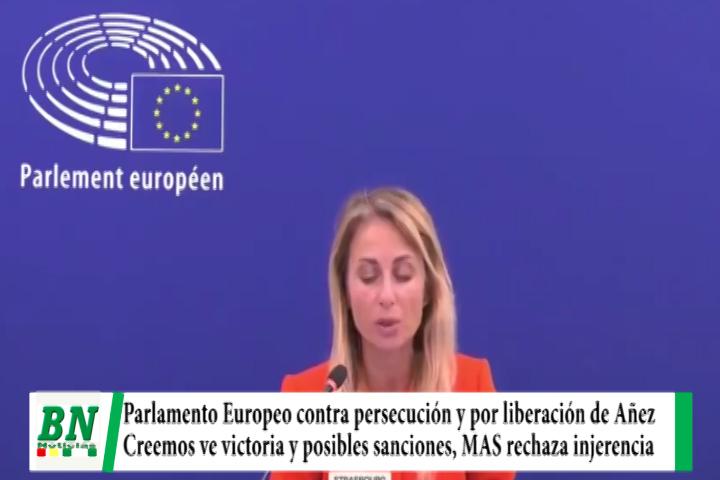 Parlamento Europeo niega golpe y avala sucesión de Añez y pide su liberación, Creemos ve victoria y MAS rechaza