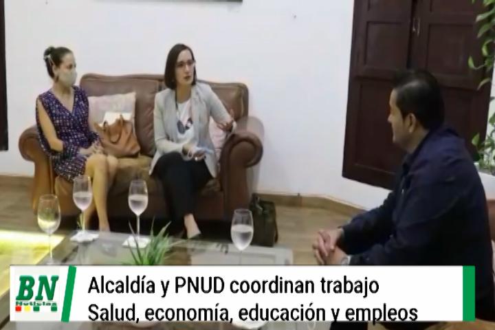 PNUD y Alcaldía coordinarán trabajo en conjunto en salud, empleo, economía y educación
