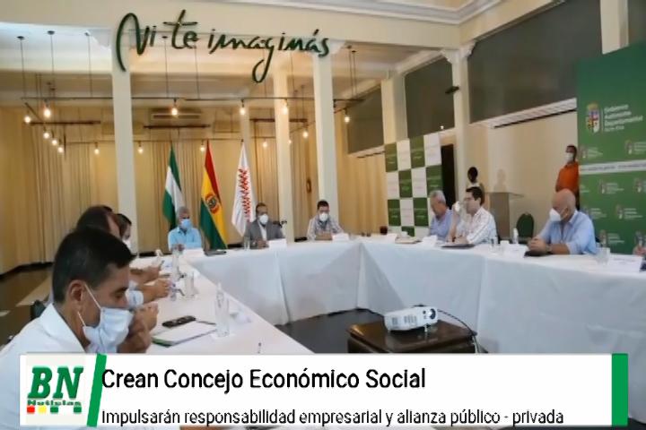 Gobernador presenta tres leyes para reactivar economía y crea el Comite Económico Social