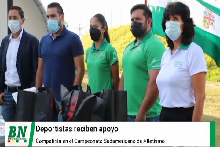 Deportistas reciben apoyo para que viajen al Campeonato Sudamericano de Atletismo