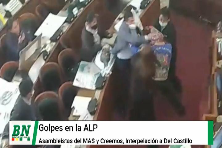 Golpes entre el MAS y Creemos en ALP por interpelación, responsabilizan por detenciones de ex autoridades