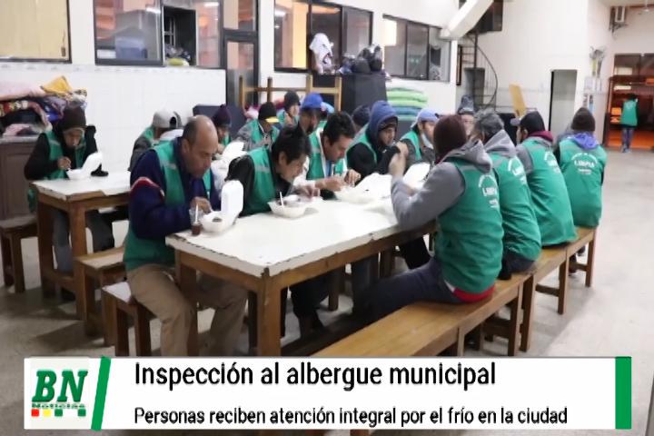Supervisan funcionamiento del albergue municipal y verifican atención integral a personas en situación de calle