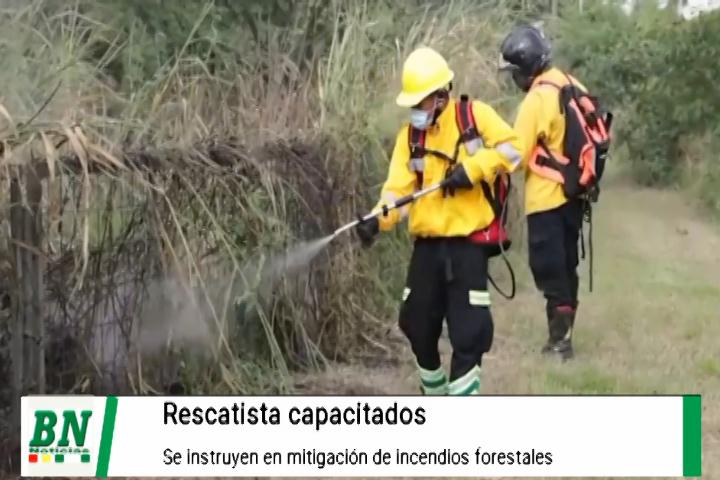Rescatistas se capacitan en mitigación de incendios y las instituciones coordinan y disponen de equipos y personal