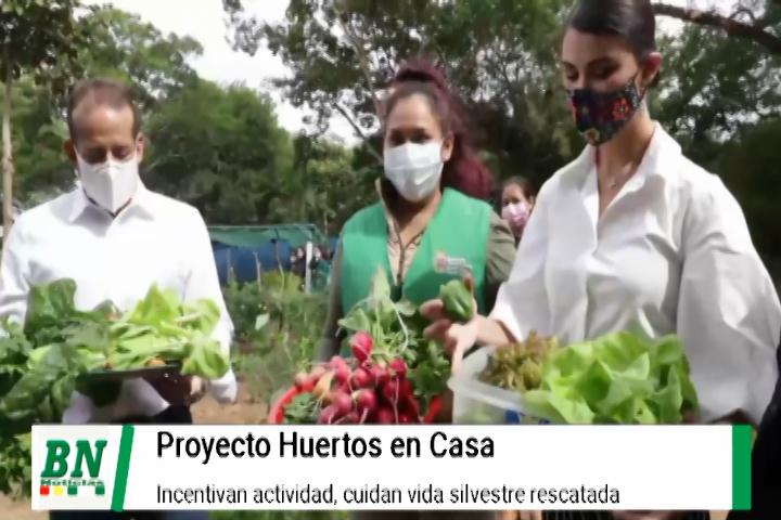 Huertos en Casa es apoyado por Gobernación e incentivan proyectos, vida silvestre atendida con dichos recursos