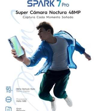 TECNO SPARK 7 Pro, una pantalla más grande y una cámara sin igual para que los centennials vivan una experiencia cinematográfica inmersiva