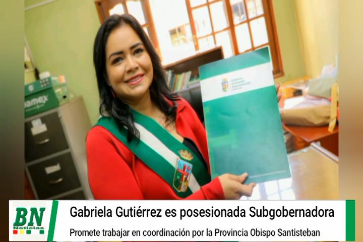 Provincia Obispo Santisteban tiene a una mujer Subgobernadora y promete coordinar