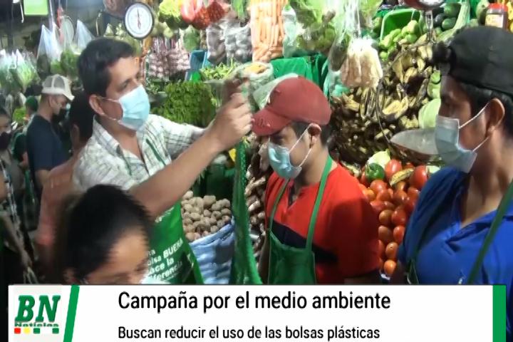Realizan campaña por el medio ambiente y buscan reducir el uso de bolsas plásticas
