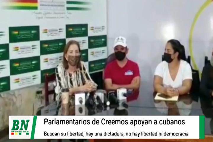 Cubanos que protestan contra su gobierno son apoyados por Creemos, OEA toma posición por libertad