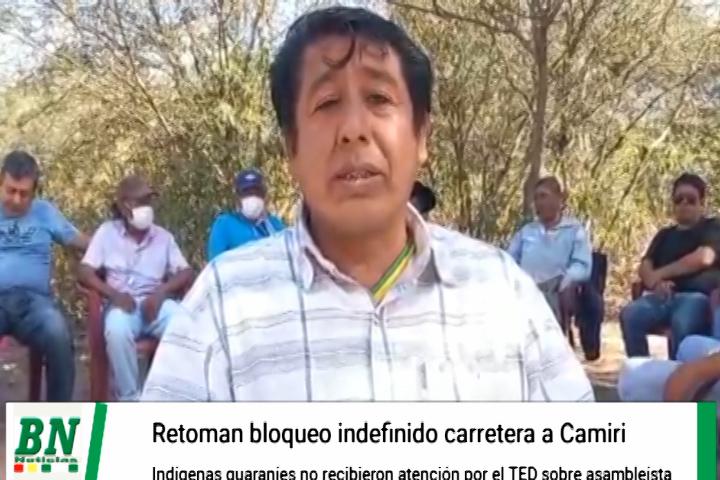 Guaranies reinician bloqueos por falta de atención del TED por asambleísta Departamental