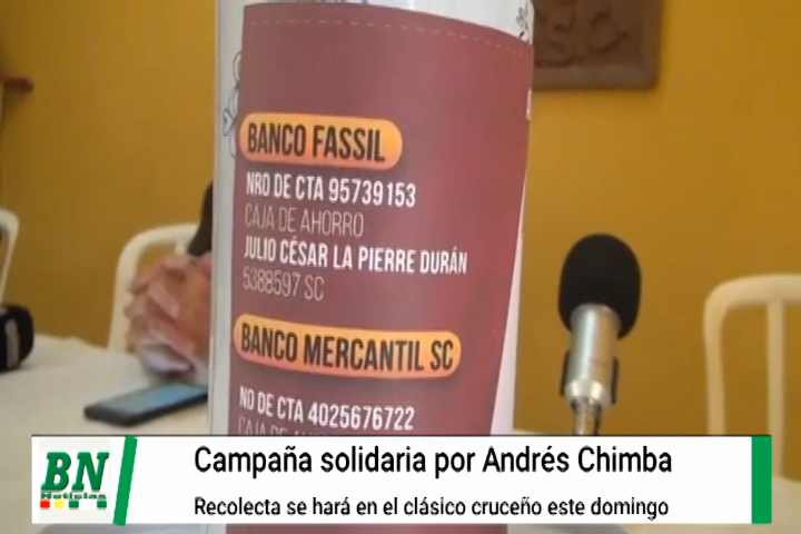 Periodistas deportivos en campaña por Andrez Chimba, quien esta delicado de salud, piden aportar al ingresar al clásico