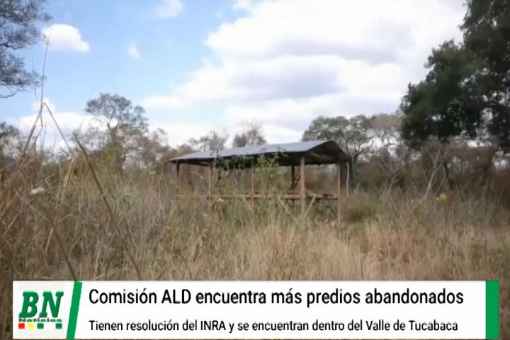 Comisión de la ALD encuentra comunidades sin habitar y desmontadas dentro del Valle de Tucabaca, San Ignacio pide desalojo de reserva