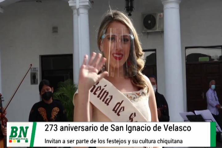 San Ignacio invita a participar de sus 273 años de fundación donde Romira será coronada