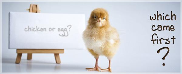 التطوير ولغز البيضة أم الفرخة