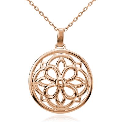 Round Medallion Pendant In 14k Rose Gold Blue Nile