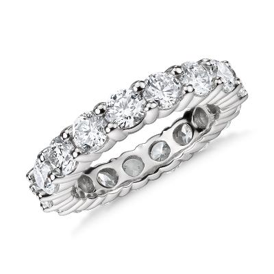 Classic Diamond Eternity Ring In Platinum 4 Ct Tw