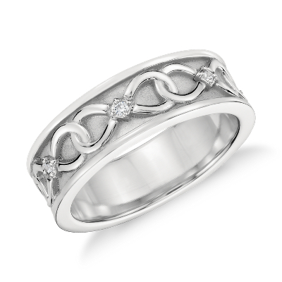 Colin Cowie Diamond Infinity Wedding Ring In Platinum 7mm