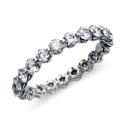 Floating Diamond Eternity Ring In Platinum 1 12 Ct Tw