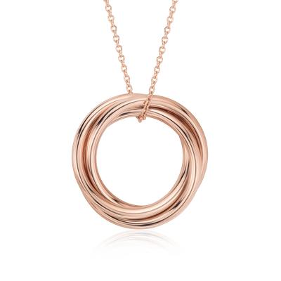 Infinity Rings Pendant In 14k Rose Gold Blue Nile