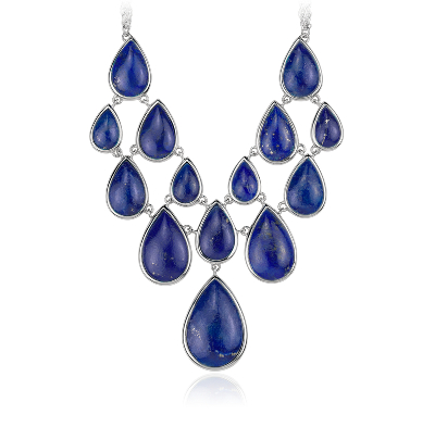 Lapis Statement Necklace In Sterling Silver 1905x127mm