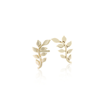 Leaf Stud Earrings In 14k Yellow Gold Blue Nile