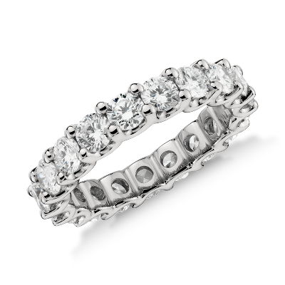 Luna Diamond Eternity Ring In Platinum 3 Ct Tw Blue Nile