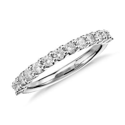 luna diamond wedding ring in platinum 1 2 ct tw