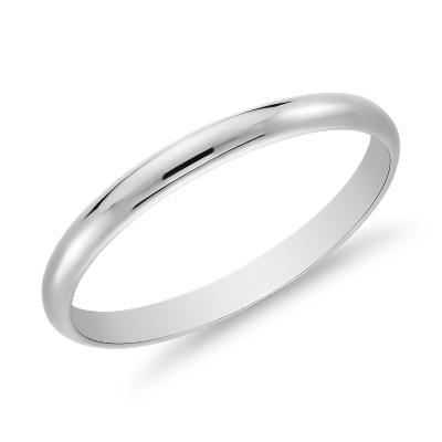 classic wedding ring in platinum 2mm