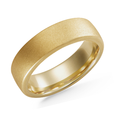 Matte Wedding Ring In 18k Yellow Gold Blue Nile