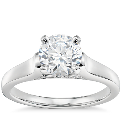 1 Carat Ready To Ship Truly Zac Posen Cathedral Solitaire