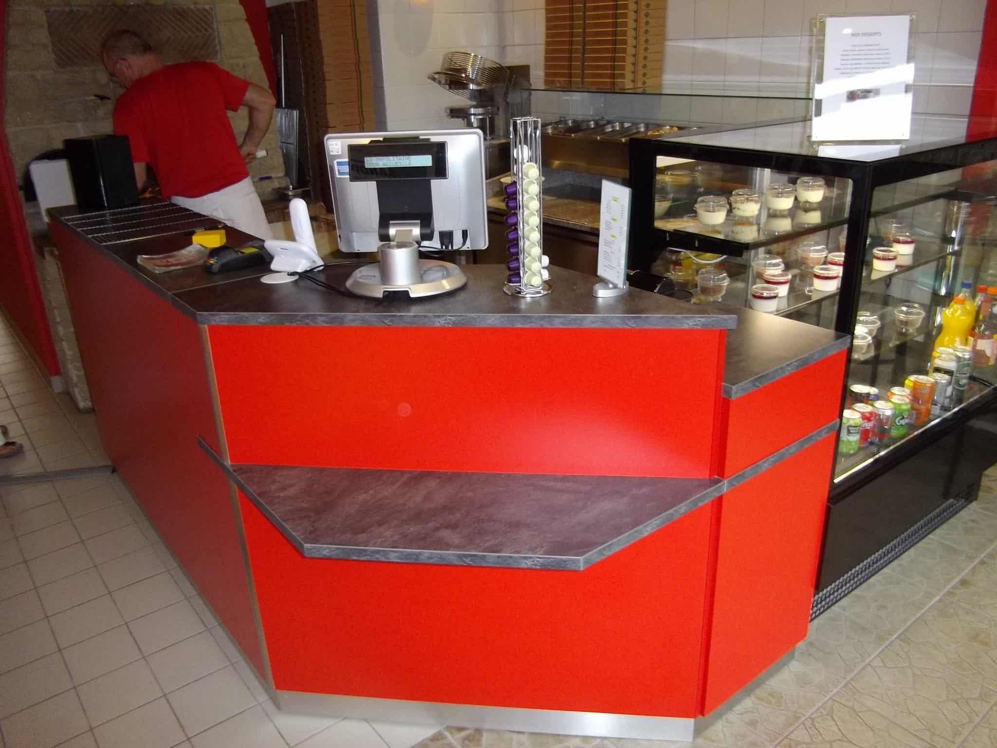 Mobilier Restauration Comptoir Bar Pour Pizzeria La
