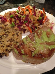 Tantalizing Tuna w/Napa Cabbage slaw