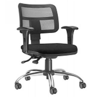 Cadeira Executiva Giratória com Braço Regulável ARARAQUARA Tela Interlocutor