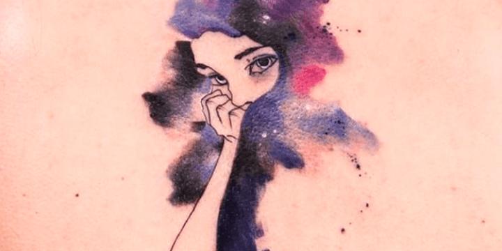 tatuagem aquarela no braço