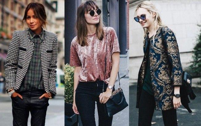 texturas nos looks moda outono inverno