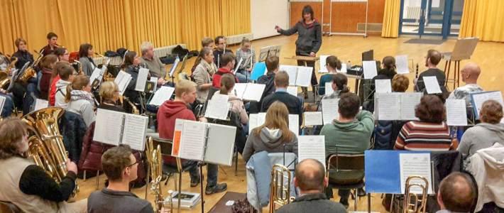 Blasorchester Aachen Haaren Probe