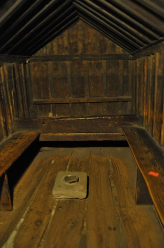 Prison cell - wood added in recent years to make warmer