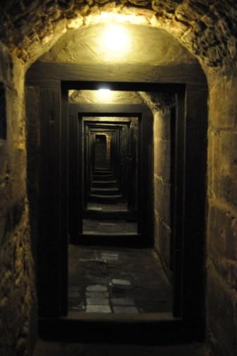 The prison hallway